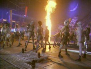 Duran Duran Arena Wild Boys dancers