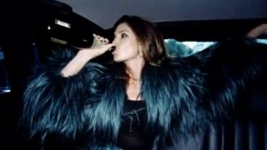 Duran Duran Girl Panic Cindy Crawford in limo