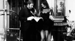 Duran Duran Girl Panic Simon Le Bon serves champagne