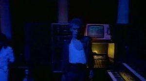 Duran Duran Sing Blue Silver Nick Rhodes in darkness