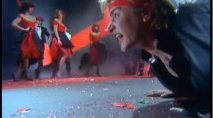 My Own Way Duran Duran Simon Le Bon crawling on floor