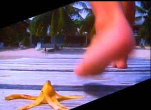 Rio Duran Duran Simon steps on banana peel