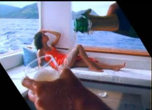 Rio Duran Duran pouring champagne on yacht