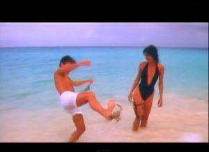 Rio Duran Duran Roger Taylor steps on crab