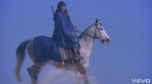 Duran Duran video Union of the Snake mysterious woman on horse