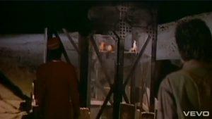 Duran Duran video Union of the Snake Barbarella elevator