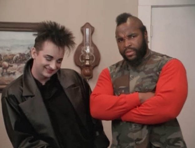 A Team Cowboy George Boy George and Mr T