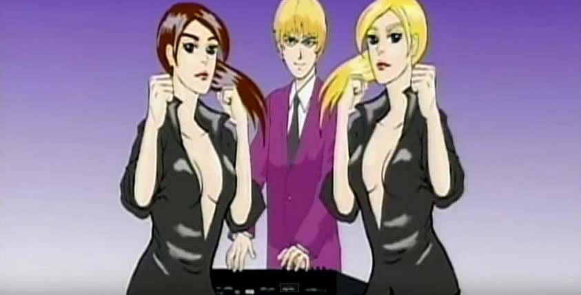 Duran Duran Careless Memories anime Nick Rhodes protected by babes