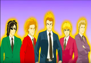 Duran Duran as Dragon Ball characters