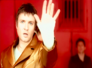 Duran Duran Perfect Day Simon Le Bon in gold suit