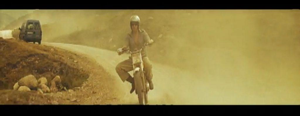 Duran Duran Reach Up Sunrise Simon on motorcycle