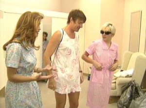 Duran Duran on MTV House of Style modeling housedresses