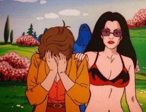 GI Joe Gamemaster Baroness comforts Lady Jaye