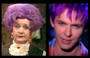 Mrs Slocombe and Nick Rhodes