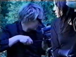 Nick Rhodes and Stephen Duffy as The Devils Nick directs video