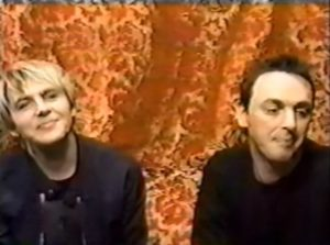 Nick Rhodes and Stephen Duffy as The Devils Nick smiling