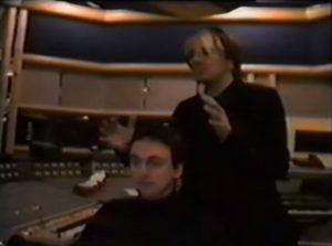 Nick Rhodes and Stephen Duffy as The Devils in studio