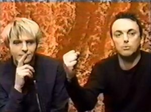 Nick Rhodes and Stephen Duffy as The Devils right to shop