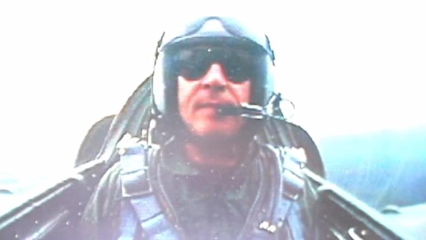 Simon Le Bon fighter jet
