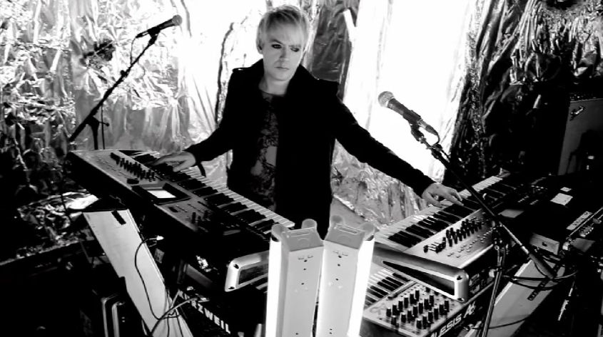 Nick Rhodes in the All You Need Is Now video