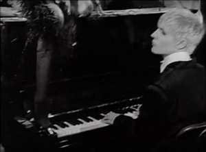 Nick Rhodes at the piano