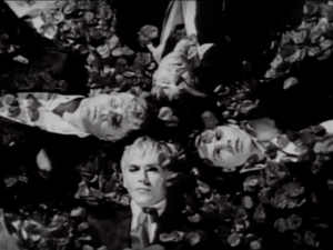 Duran Duran showered by rose petals