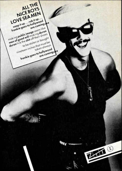 Frankie Goes to Hollywood ad in NME